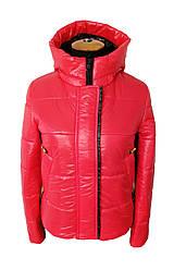 Женская весенняя куртка  молодежная   42-48 красный
