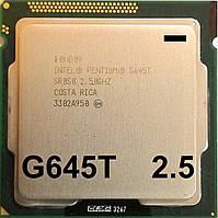 Процессор Intel Pentium G645T Q0 SR0S0 2.5GHz 3M Cache 1066MHz FCLGA 1155 Б/У - МИНУС