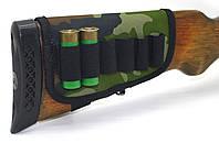 Чехол на приклад на 6 патронов камуфляж на поролоне цвет 1 5086, фото 1