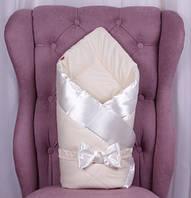 """Демисезонный конверт одеяло """"Beauty"""" молочный"""