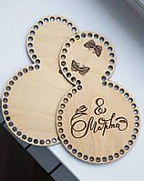"""Деревянные донышки, дно для вязания корзинок """"8 Марта"""""""