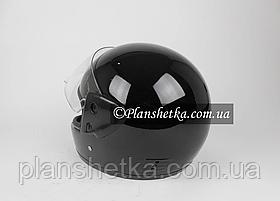 Шолом для мотоцикла Hel-Met 101 чорний глянсовий, фото 3