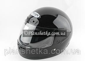 Шолом для мотоцикла Hel-Met 101 чорний глянсовий, фото 2
