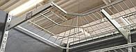 Полка сітчаста кутова шириною 606 мм глубиною 406мм для гардеробної системи зберігання Україна, фото 1