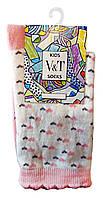 Носки детские Kids Socks V&T classic ШДКг 144-024-0387 Маленькие сердечки р.20-22 Светло-молочный/розовый