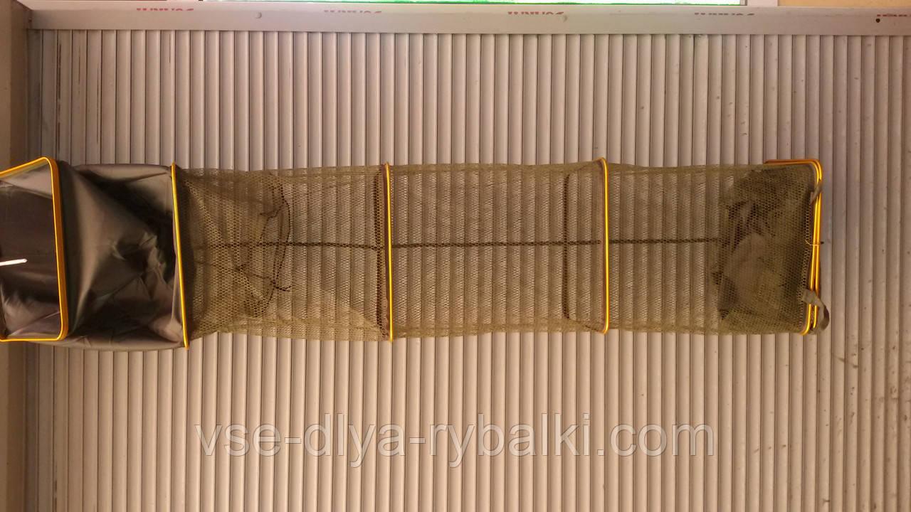 Садок рыболовный 4,0 метра квадратный прорезиненный