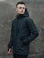Мужская графитовая весенняя куртка на микрофлисе Staff snou grafit MBM0044