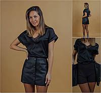 Р 42-46 Кожаная мини юбка - шорты 20970, фото 1