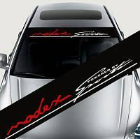 Cолнцезащитная наклейка на лобовое стекло: Modex Powered by Sports, фото 1