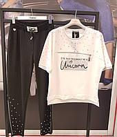 Прогулочный костюм RAW Турция люкс Новая коллекция 2020! РАЗМЕР S: белый/черный