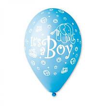 """Латексна кулька з малюнком it's A BOY 12"""" 30см Gemar"""