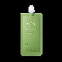 Балансирующий тонер с экстрактом зеленого чая Innisfree Green Tea Balancing skin EX mini