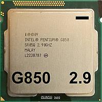 Процессор Intel Pentium G850 Q0 SR05Q 2.9GHz 3M Cache 1333MHz FCLGA 1155 Б/У - МИНУС