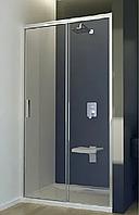 Душові двері 120 SANSA SH-120AC, профіль BRUSHED, скло прозоре, 120x185 см