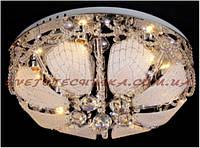 Люстра диаметром 300 мм, стекло, 3патронаЕ27, RGB LED, пульт (7123-300)