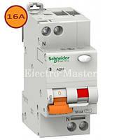 Дифавтомат 2п 16A тип C 30мА Schneider Домовой АД63 (дифференциальный автоматический выключатель)