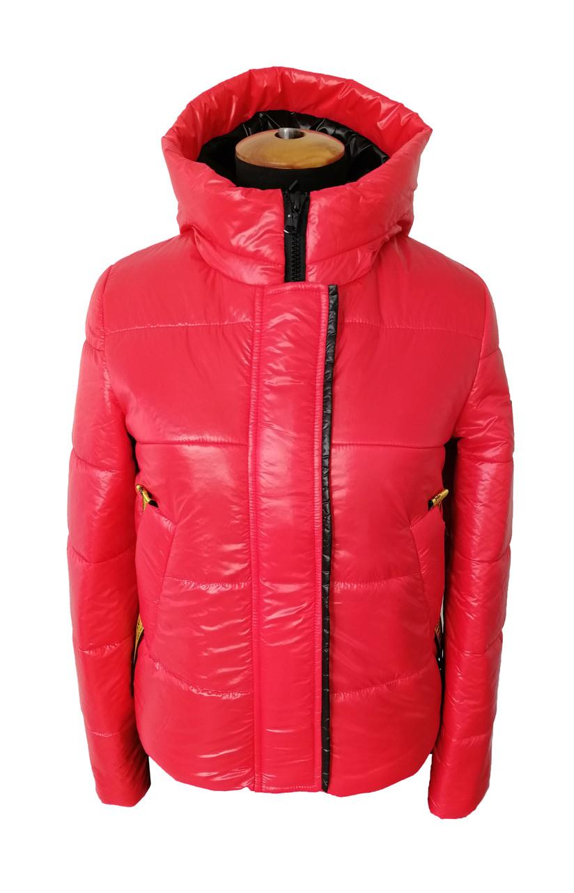 Женская демисезонная куртка молодежная   42-48 красный