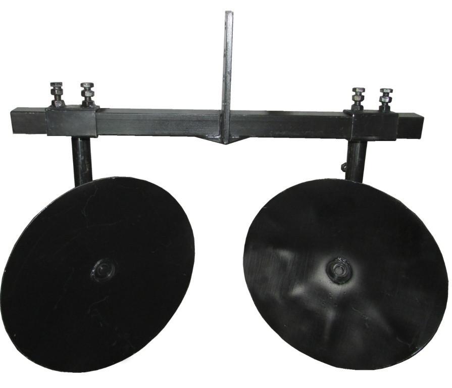 Окучник дисковый Ø360 регулируемый на двойной сцепке Премиум