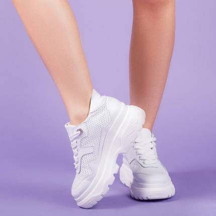 Модні жіночі кросівки натуральна шкіра Розмірний ряд 36-41, фото 2