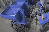 Картофелесажалка двухрядная для мототрактора(60х60 л. бункер для удобрений), фото 3