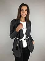 Стильный женский кардиган с длинным рукавом летний цвет темно-серый  бренд VCS  S