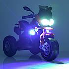Детский мотоцикл Bambi с кожаным сиденьем M 4117EL-3 красный, фото 2
