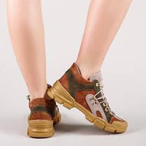 Кросівки шкіряні жовті Розмірний ряд 36-40, фото 2