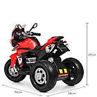 Детский мотоцикл Bambi с кожаным сиденьем M 4117EL-3 красный, фото 6