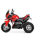 Детский мотоцикл Bambi с кожаным сиденьем M 4117EL-3 красный, фото 5