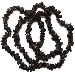 Бусины Сколы Камня Крупные Темно Коричневые, Размер: 6-12*4-8 мм., Отв. 1 мм., около 85 см. нить