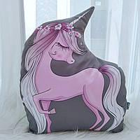 Подушка Единорог New розовый 45см