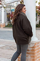 Женская куртка батал демисезонная кашемир