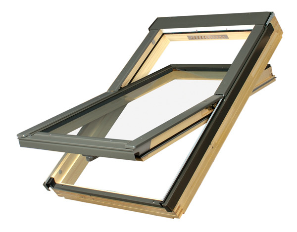 Мансардные окна Fakro FTS-V U2  с вентиляционной щелью