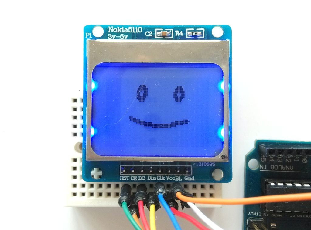Arduino РК LCD PCB модуль дисплей Nokia 5110 - синій