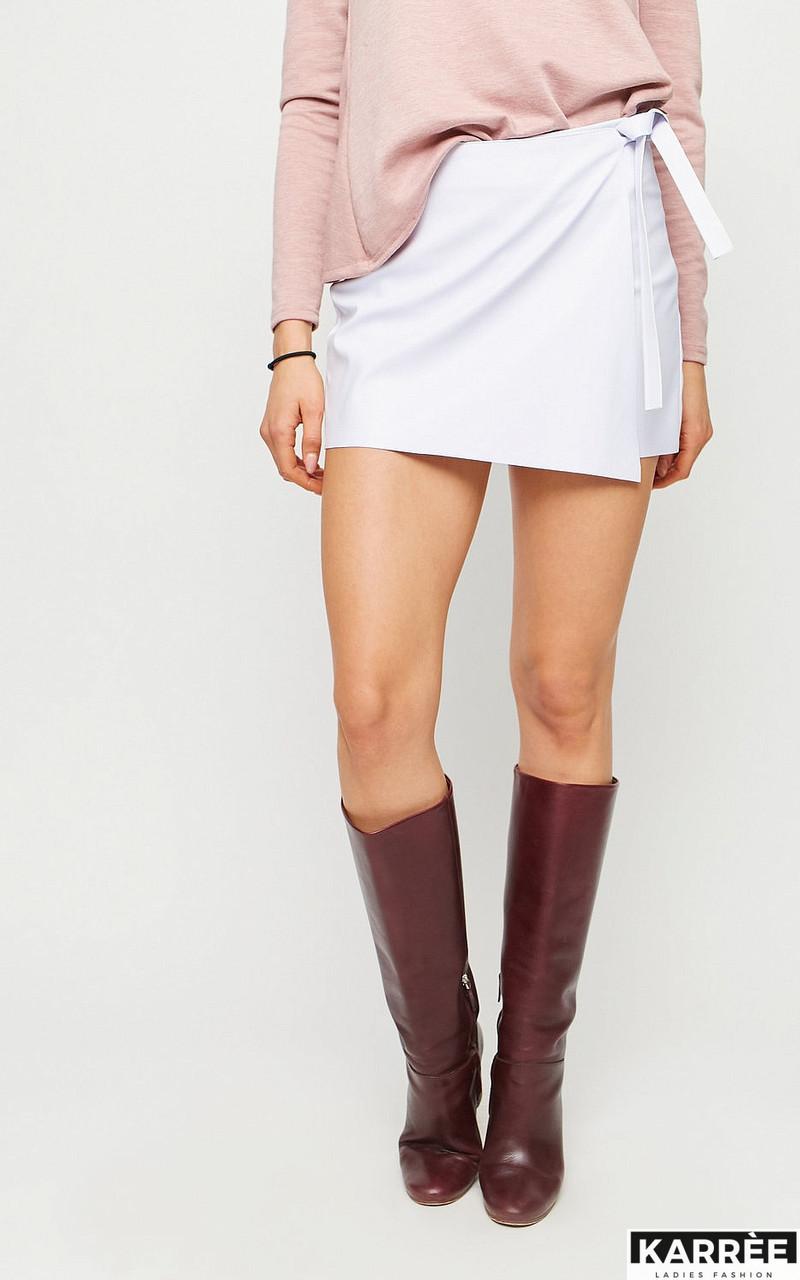 """Спідниця-шорти Karree """"Вегас"""" міні довжини з еластичної екошкіра (2 кольори, р. S,L)"""