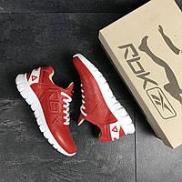 Красные мужские кроссовки натуральная кожа подошва резина демисезонная мужская обувь 15\7502