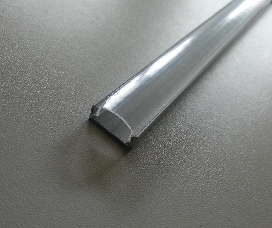 Накладний алюмінієвий профіль разом з прозорим розсіювачем 2м для LED стрічки