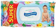 Салфетки влажные Superfresh (с клапаном) (120шт)