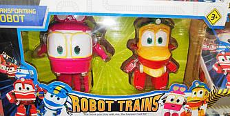 Игровой наборРоботы Поезда трансформеры Transformating Robot Trains Duck Selli Дак и Сэлли