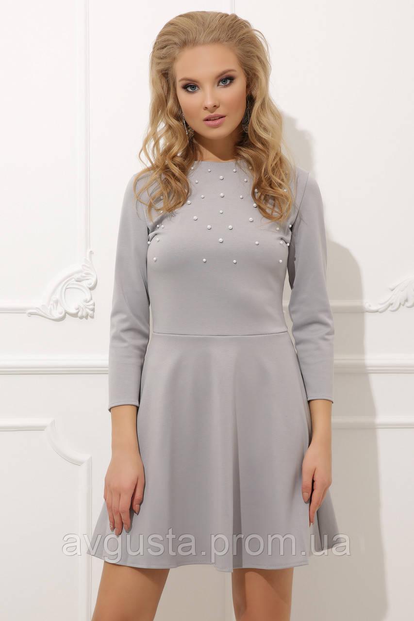 Платье Lerri ПЛАТЬЕ 020 серое  42-44
