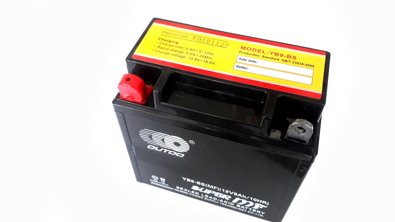 Аккумулятор 9А 12V (YT9) ENDURO (Japan Tech) гелевый 135x75x139 чорний