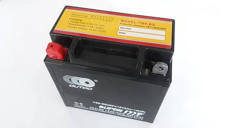 Аккумулятор 9А 12V (YT9) ENDURO (Japan Tech) гелевый 135x75x139 чорний, фото 2