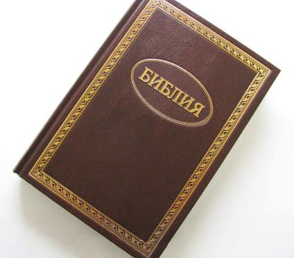Библия на русском языке большого формата (коричневая)