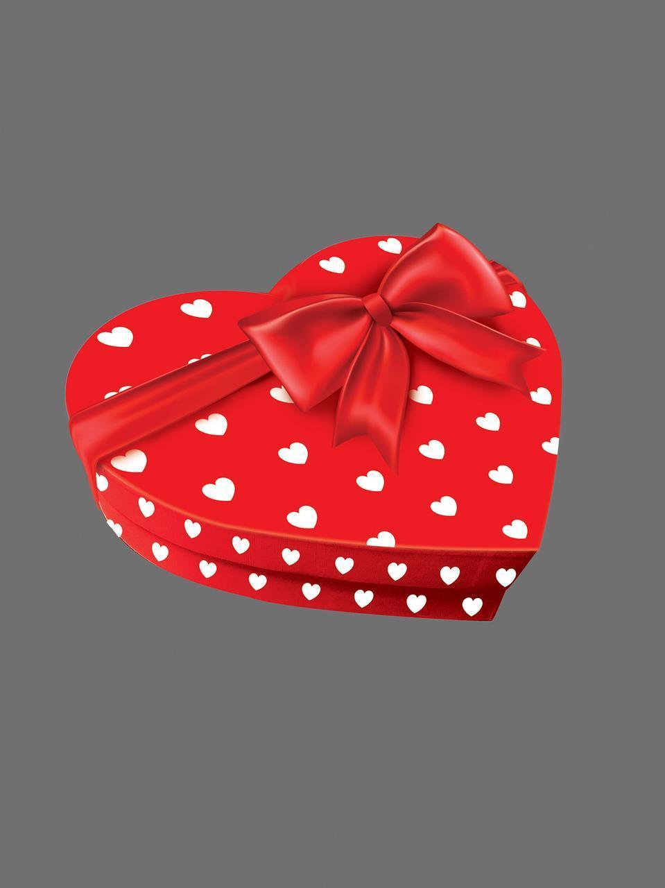 Подарочная коробка Сердце - от сердца к сердцу с декором