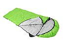 Мешок спальный КЕМПИНГ Peak с капюшоном (220х80см), салатовый, фото 2