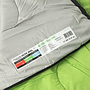 Мешок спальный КЕМПИНГ Peak с капюшоном (220х80см), салатовый, фото 8