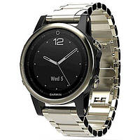 GARMIN fenix 5S Sapphire Champagne with metal band (010-01685-15), фото 1