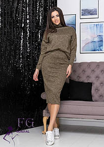 "Модный женский костюм большого размера ""Palladium""| Батал"