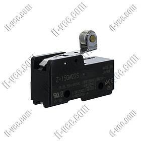 Концевой выключатель, микропереключатель Omron Z-15GW22S, SPDT, 15A/ 250VAC, 5A/30VDC