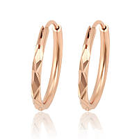 Серьги-кольца Размер 40 х 2 мм ХР Gold filled 18k Розовое золото